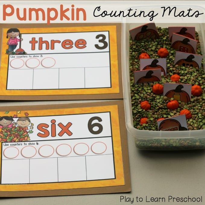 Pumpkin Counting Mats