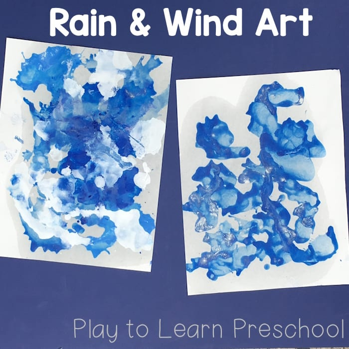 Rain & Wind Process Art