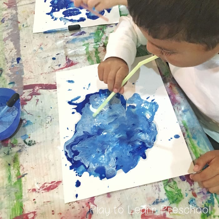 Rain And Wind Process Art Project For Preschoolers
