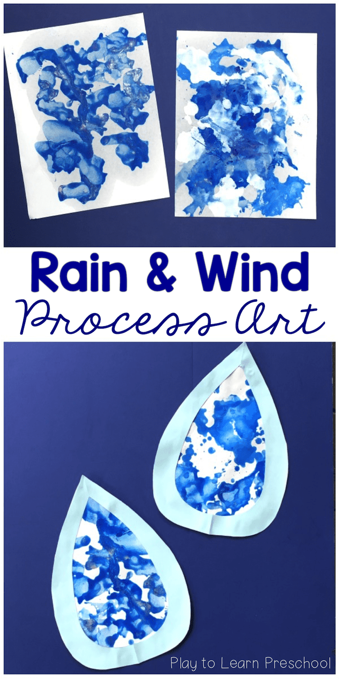 Rain and Wind Process Art