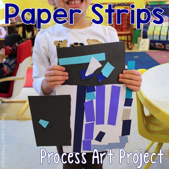 Paper Strip Process Art