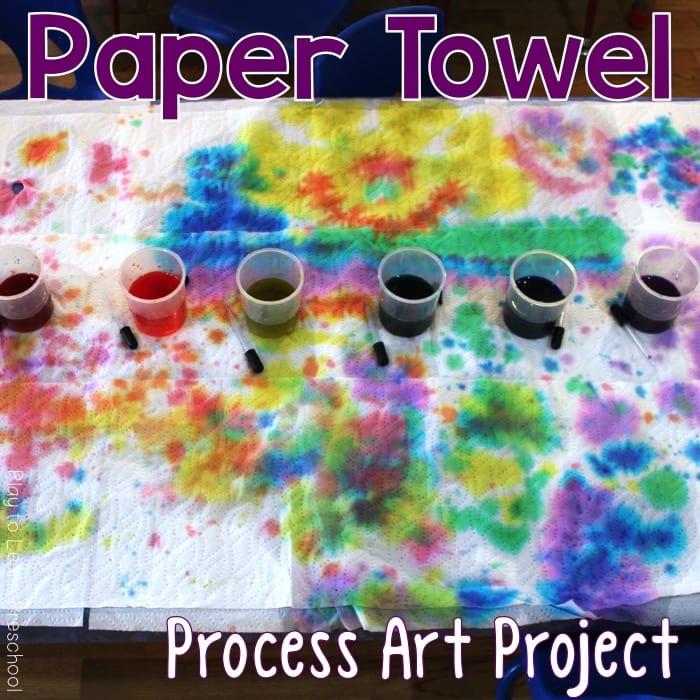 Art Paper Towel Tie Dye