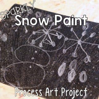 Art Sparkly Snow Paint