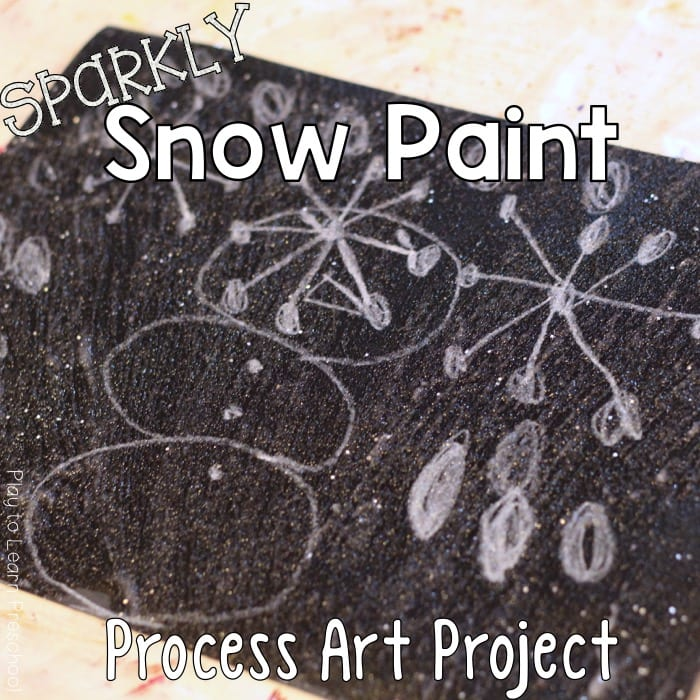 Sparkly Snow Paint