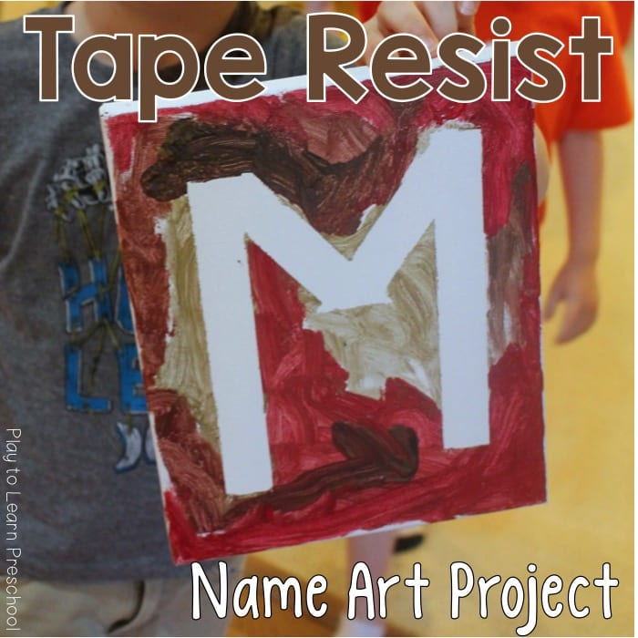 Art Tape Resist Names