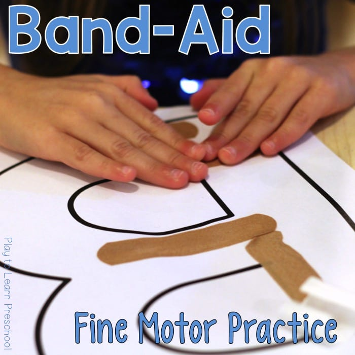 Band Aid Fine Motor Practice
