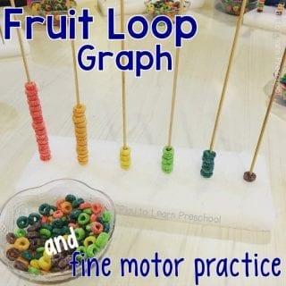 Fine Motor Fruit Loop Graph