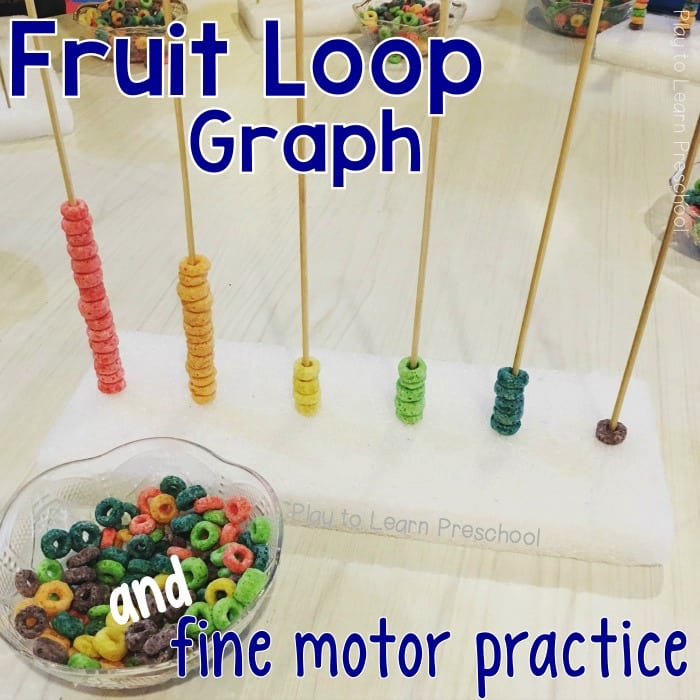Fine Motor Fruit Loop Graph