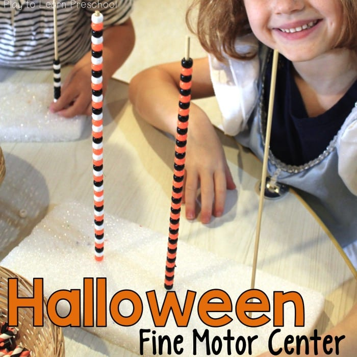 Halloween Fine Motor Bead Towers