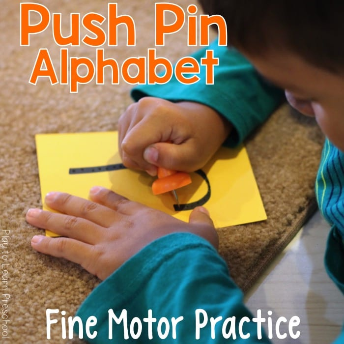 Alphabet Push Pins