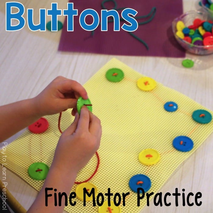 Fine Motor Learn to Sew Buttons
