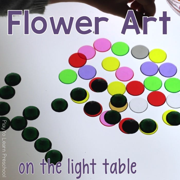 Flower Art on the Light Table