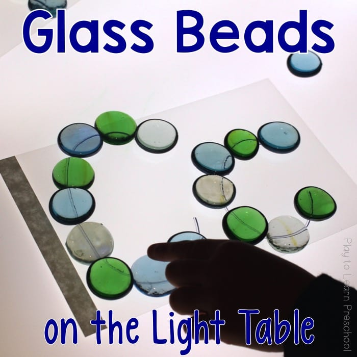 Light Table Glass Beads