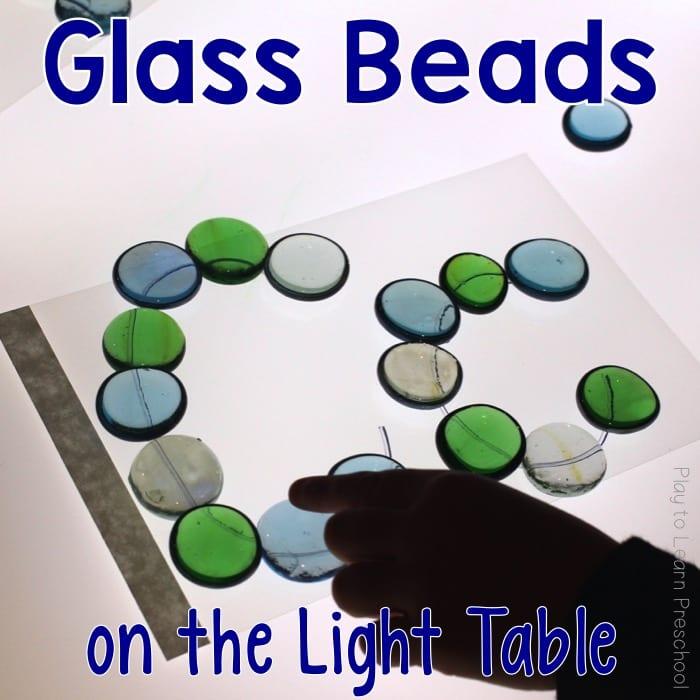 Light Table Glass Beads