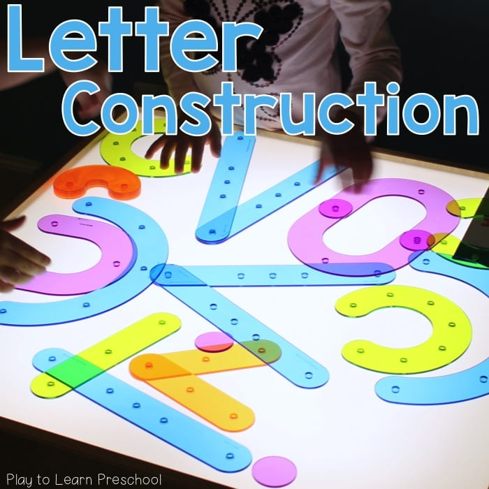 Light Table Letter Construction