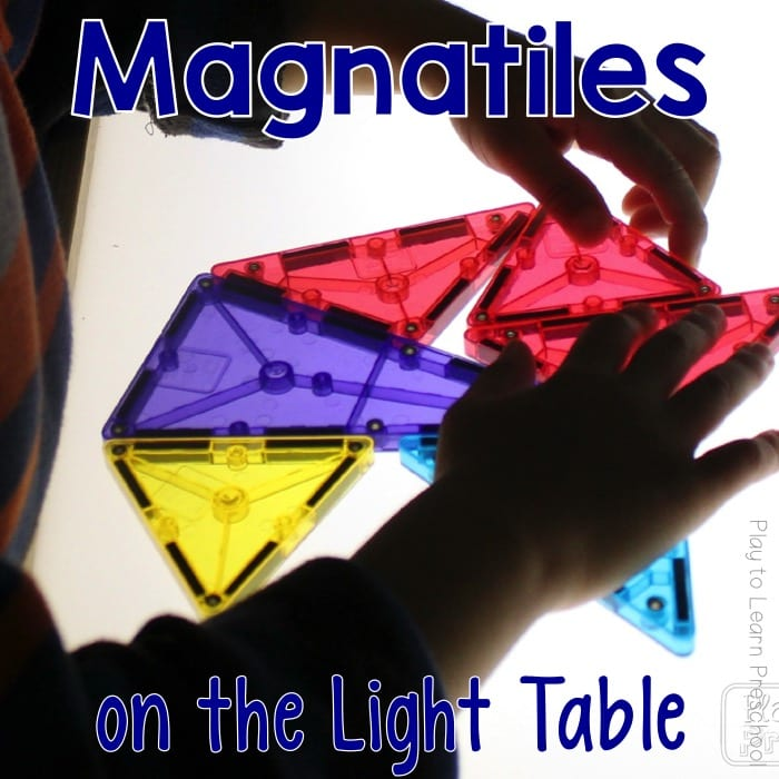 Magna-Tiles on the Light Table