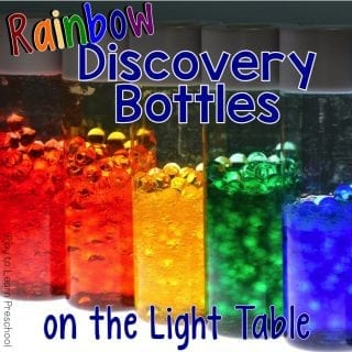 Light Table Rainbow Discovery Bottle