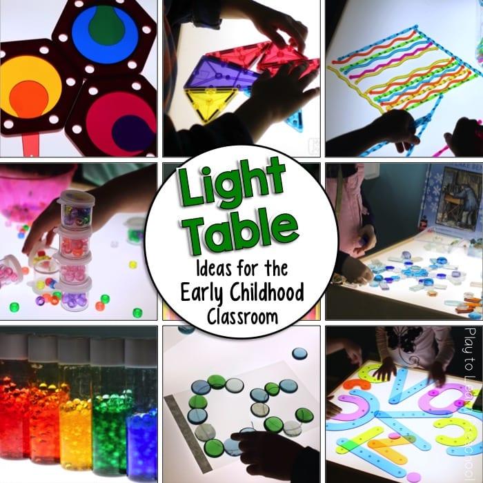 Prime Light Table Activities And Ideas For The Preschool Classroom Home Interior And Landscaping Mentranervesignezvosmurscom