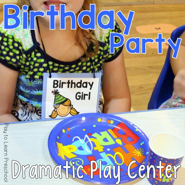 Dramatic Play Birthday