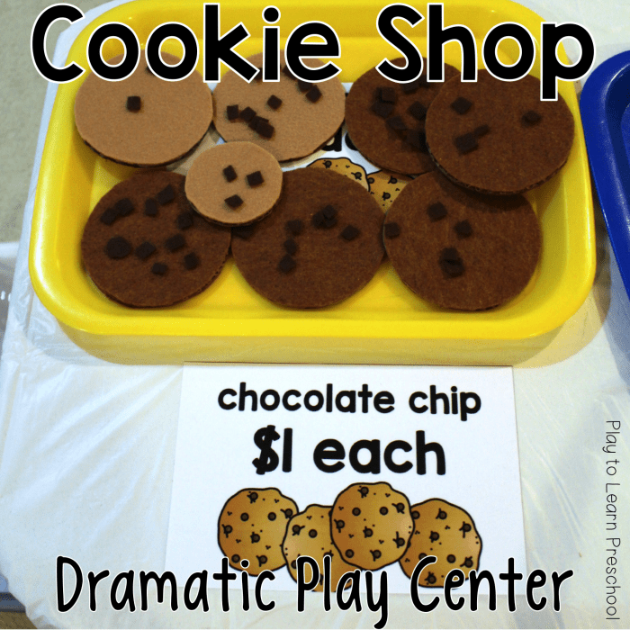 Dramatic Play Cookie Shop Bakery