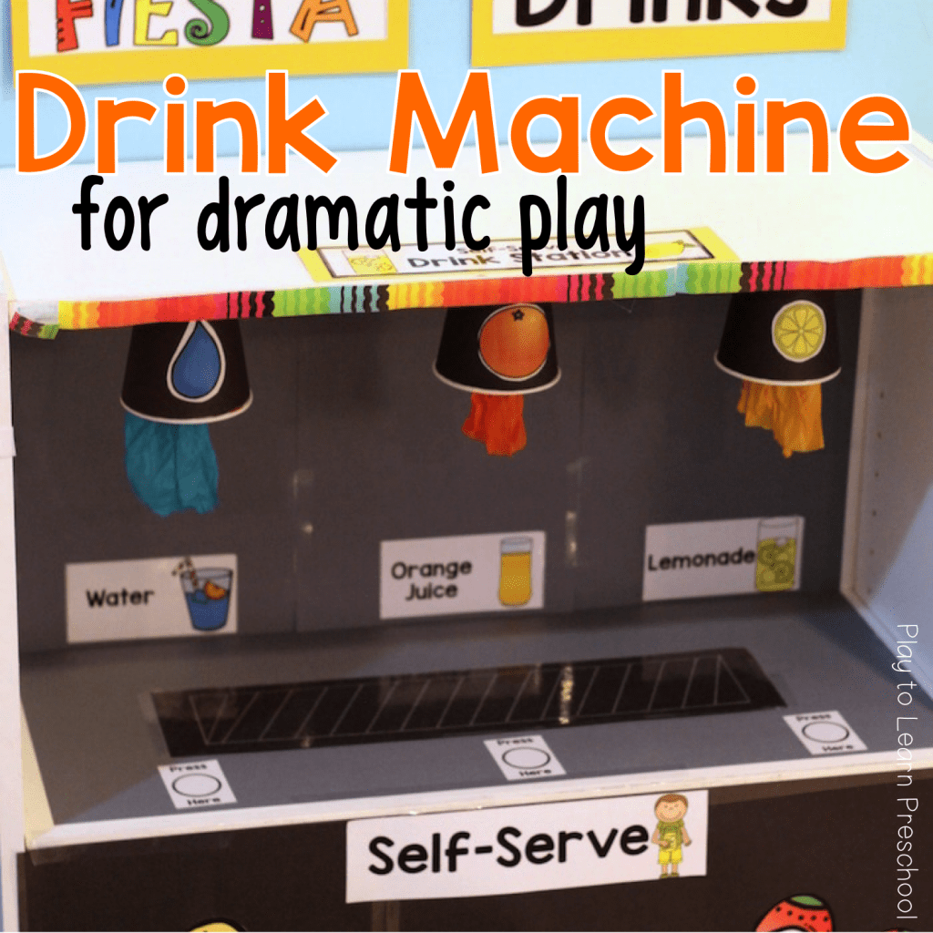 Drink Machine for Dramatic Play