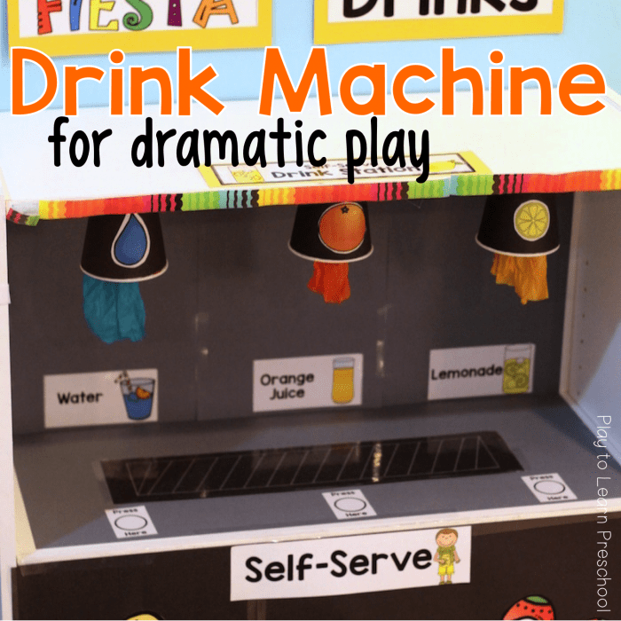 Dramatic Play Drink Machine