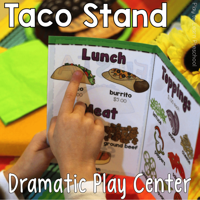 Dramatic Play Taco Stand