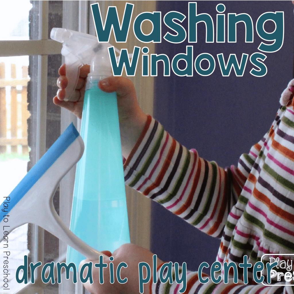 Washing Windows Dramatic Play