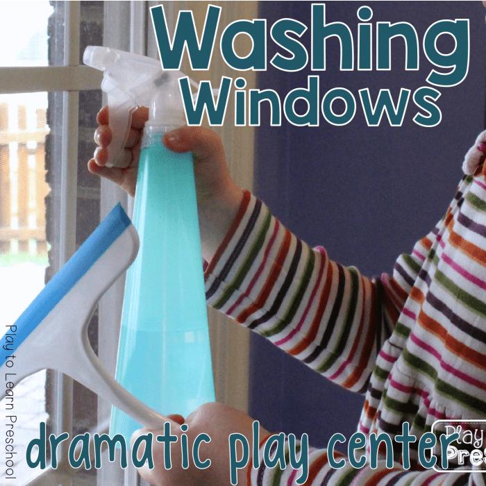 Dramatic Play Washing Windows