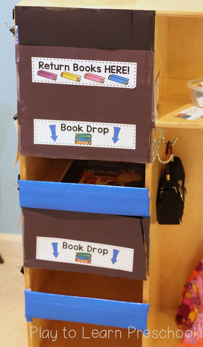 Library Dramatic Play Book Drop