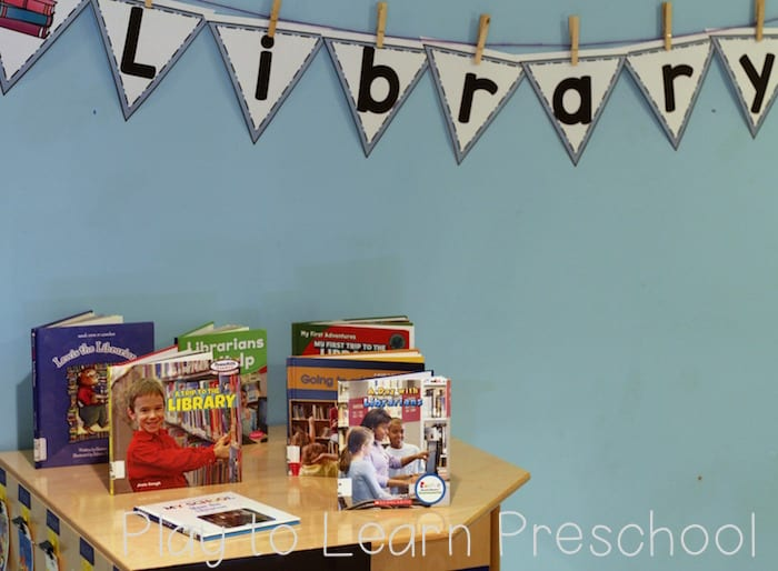 Library Dramatic Play Books