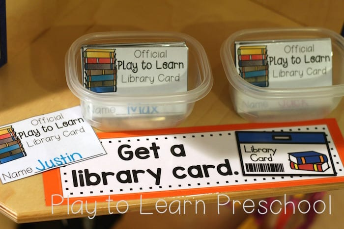 Library Dramatic Play Cards