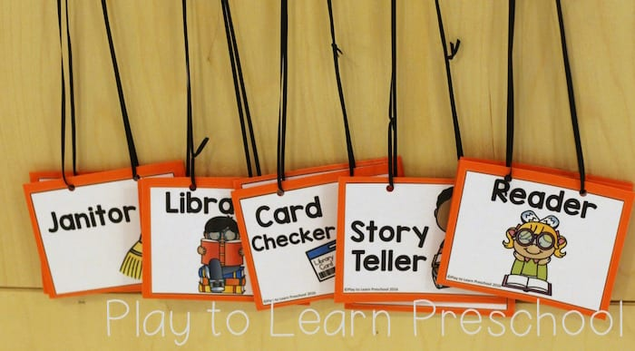 Library Dramatic Play Jobs