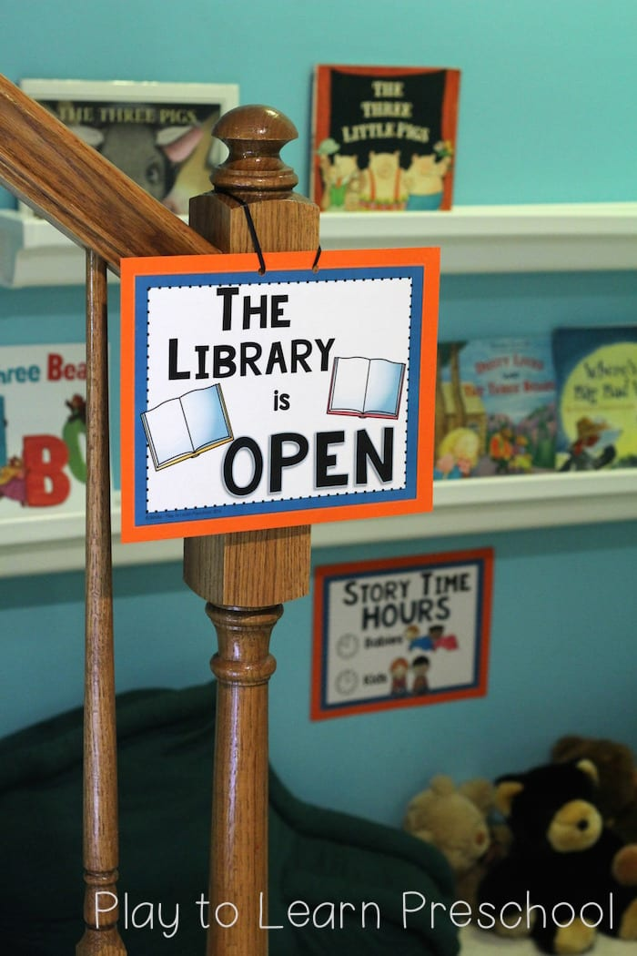 Library Dramatic Play Open