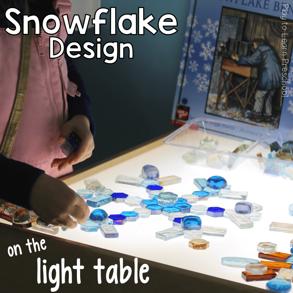 Light Table Snow Flakes