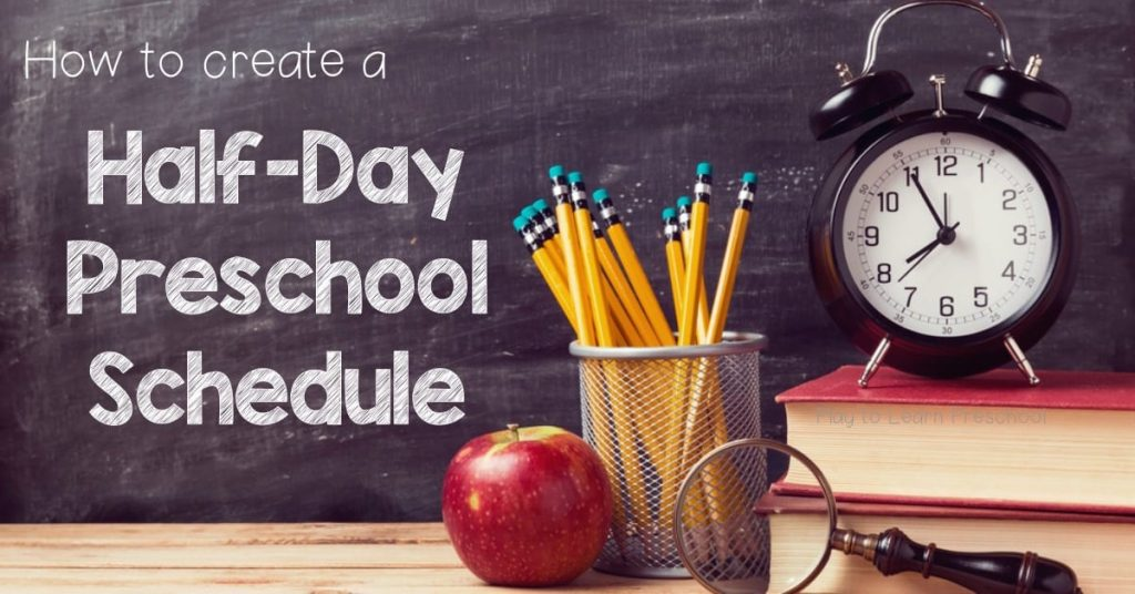 Sample Half Day Preschool Schedule