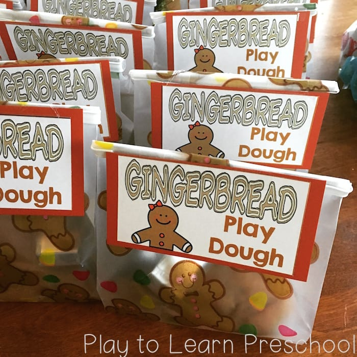Gingerbread Play Dough Gift Tags