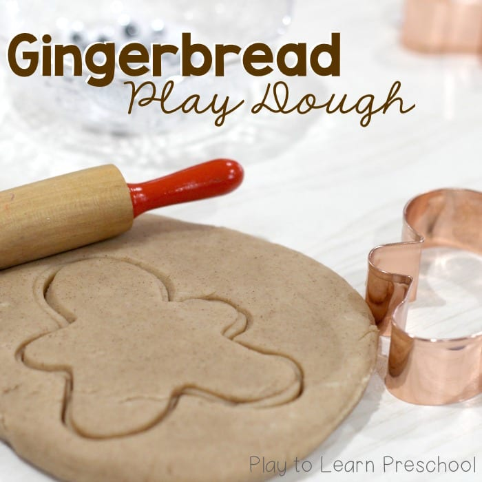 Soft Gingerbread Play Dough