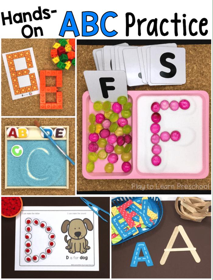10 Hands-On Ways For Preschoolers To Practice The Alphabet