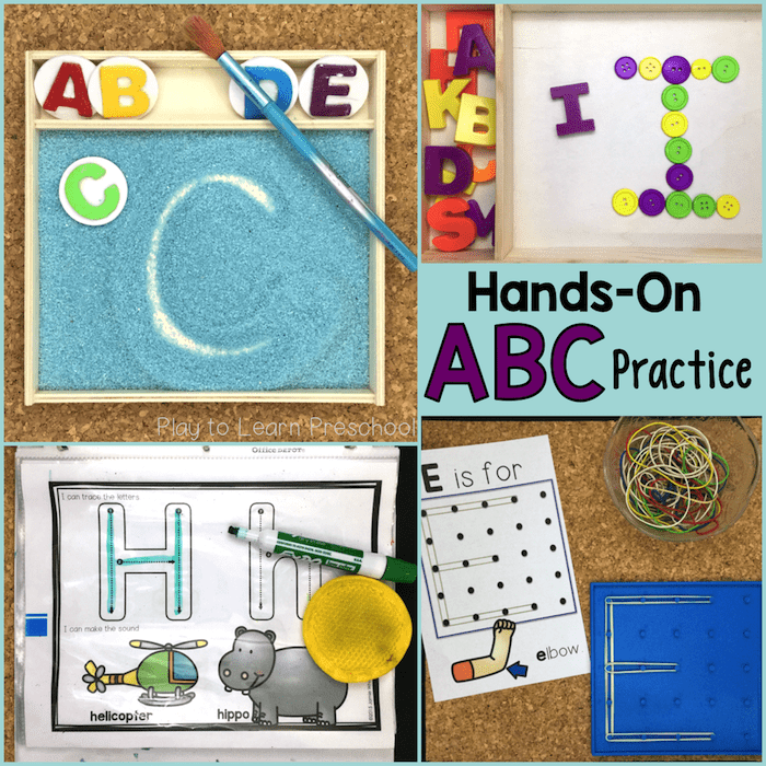 10 Hands-On ways to practice the Alphabet
