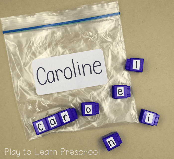 Name tasks for Preschoolers