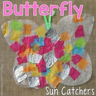 Art Butterfly Sun Catcher
