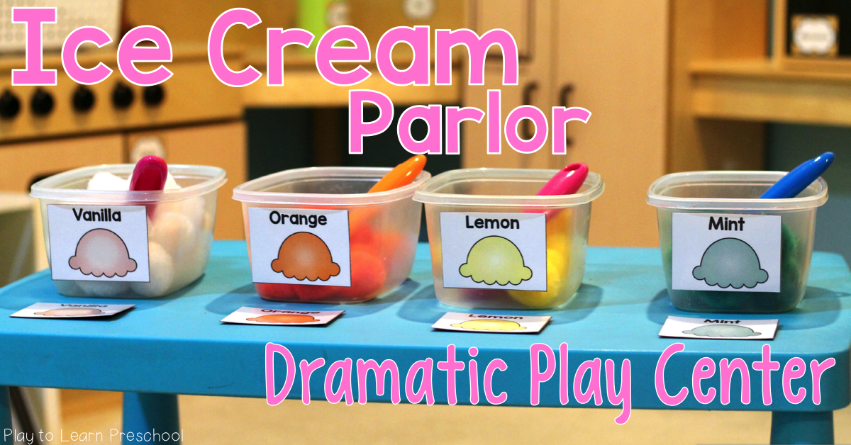 Frosty Queen Ice Cream Parlor Dramatic Play For Preschoolers