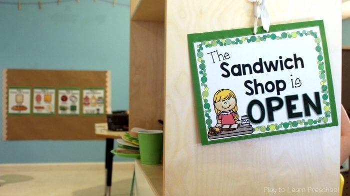 Dramatic Play Sandwich Shop