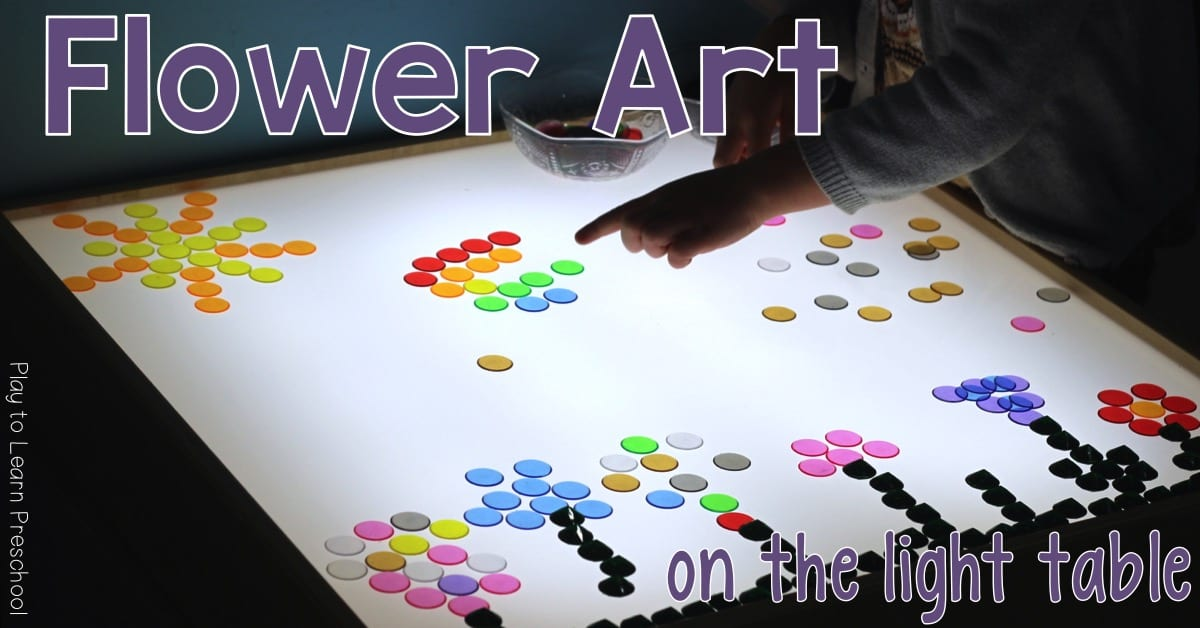 Light Table Flower Art