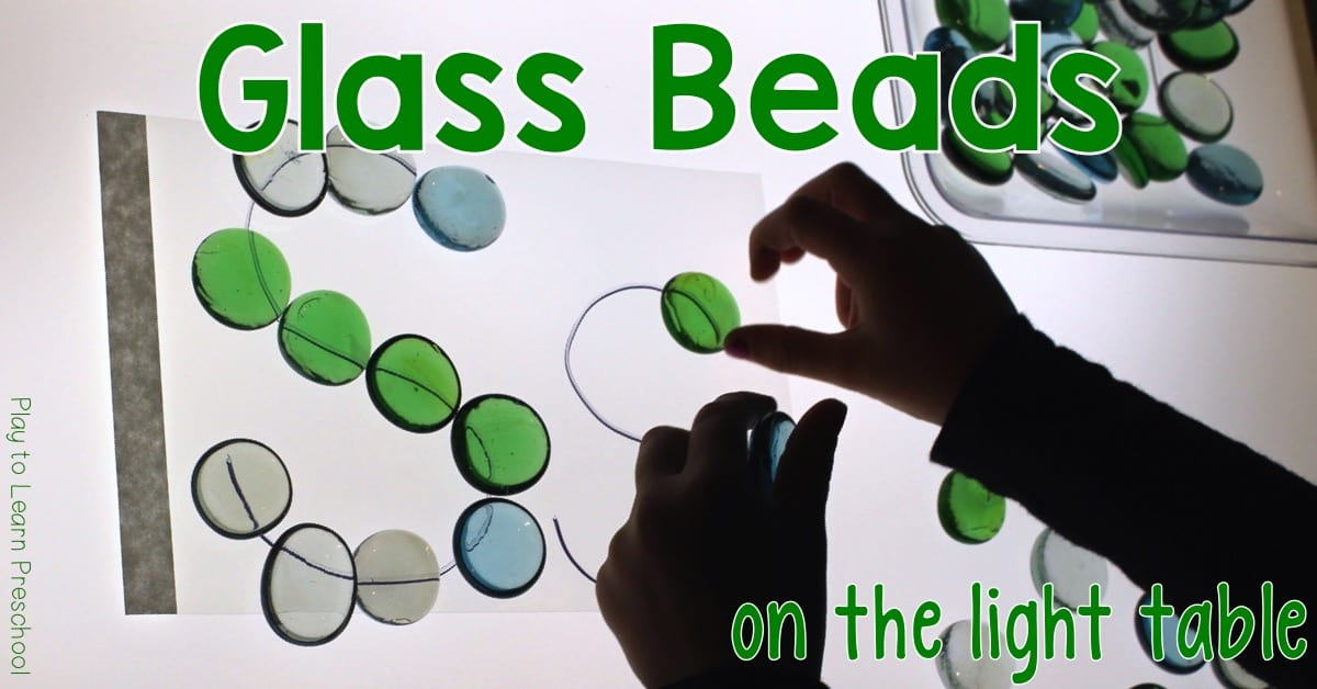 Light Table Glass Bead letters