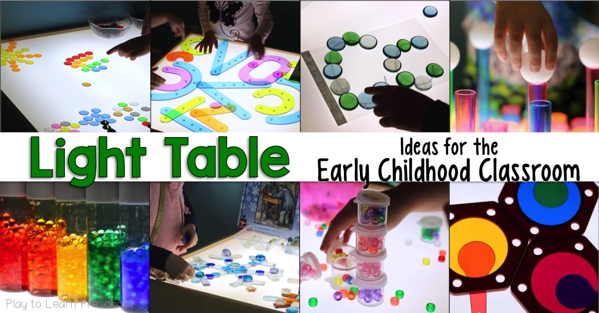 Light Table Activities and Ideas for the Preschool Classroom