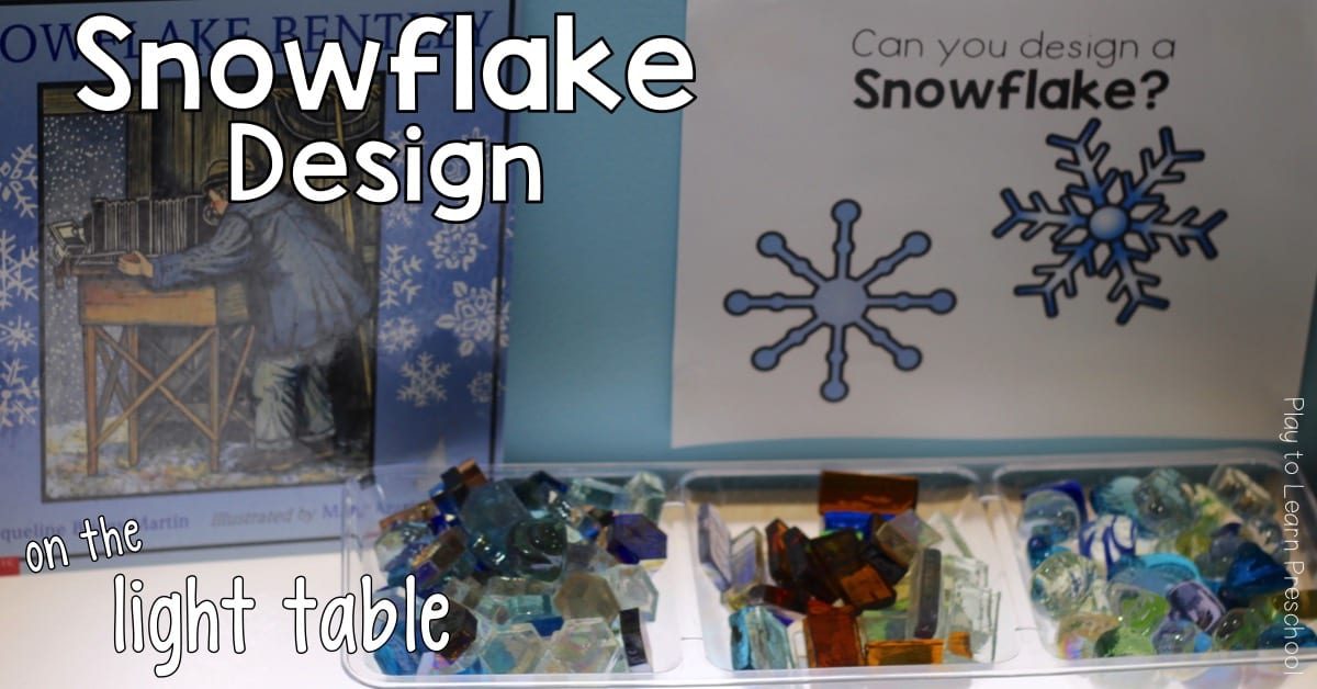 Light Table Snowflake Design