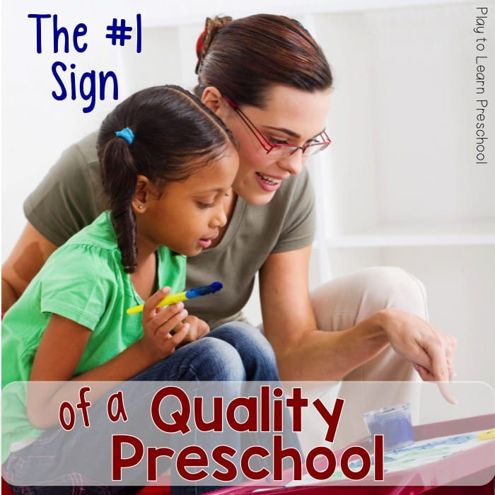 Sign of High Quality Preschool Classroom