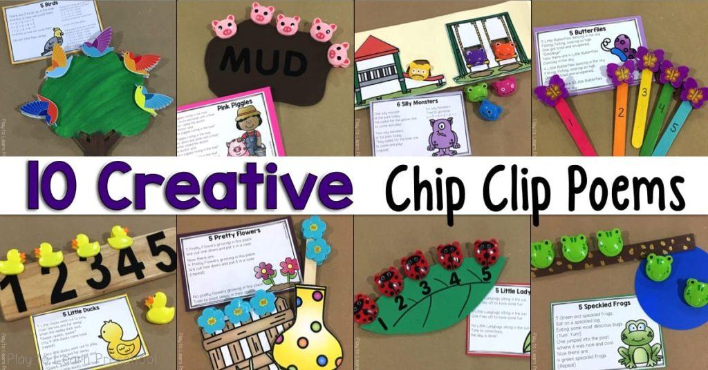 Free Printable Chip Clip Rhymes for Preschoolers